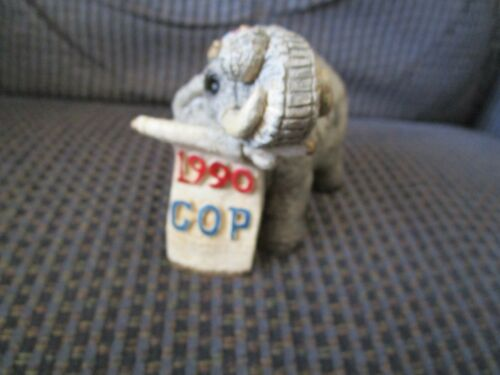 Stone Critters 1990 Republican Elephant GOP Figurine Made In 1989 UDC