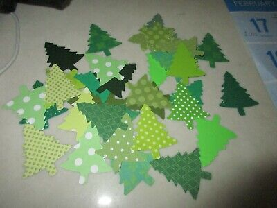 30 Stampin Up CHRISTMAS TREE Holiday Pine Punches Paper Punchies New Style ()