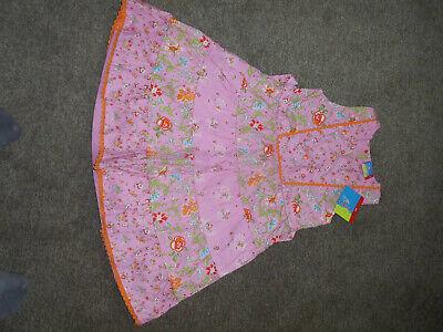 leid Gr. 122 Neu von Topolino Landhausstil rosa Blumendruck (Landhaus-stil Blume Mädchen Kleider)