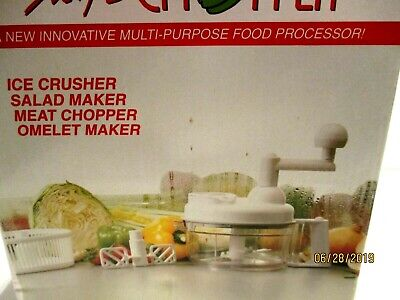 7 Pcs.Swift Chopper Manual Food Processor Model 3008 Bonus 8 Pcs. Chopping Discs