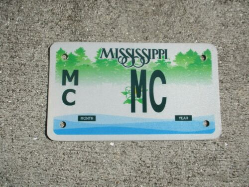 Mississippi vanity motorcycle license plate  #   MC
