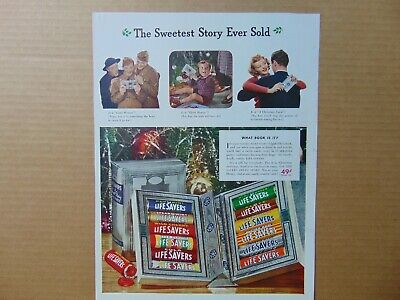 1941 LIFE SAVERS The Sweetest Story Ever Sold vintage art print ad