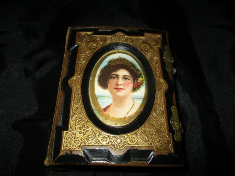 EXQUISITE VICTORIAN MID 19TH LEATHER PHOTO ALBUM 50 OLD ORIGINAL PHOTOS/WRITING