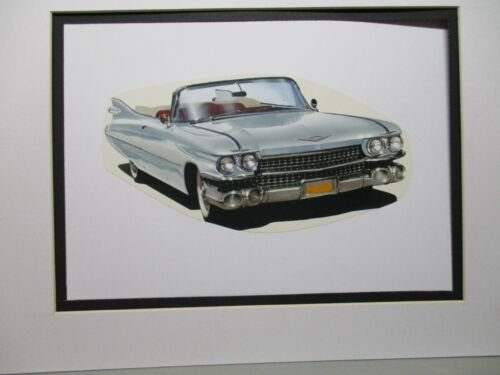 1959 Cadillac Convertible    Artist Illustrated  American Express Auto Exhibit