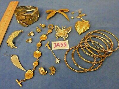 Vintage Costume Jewelry: Golden Garden of Eden 12+ Pieces JA55](Garden Of Eden Costume)
