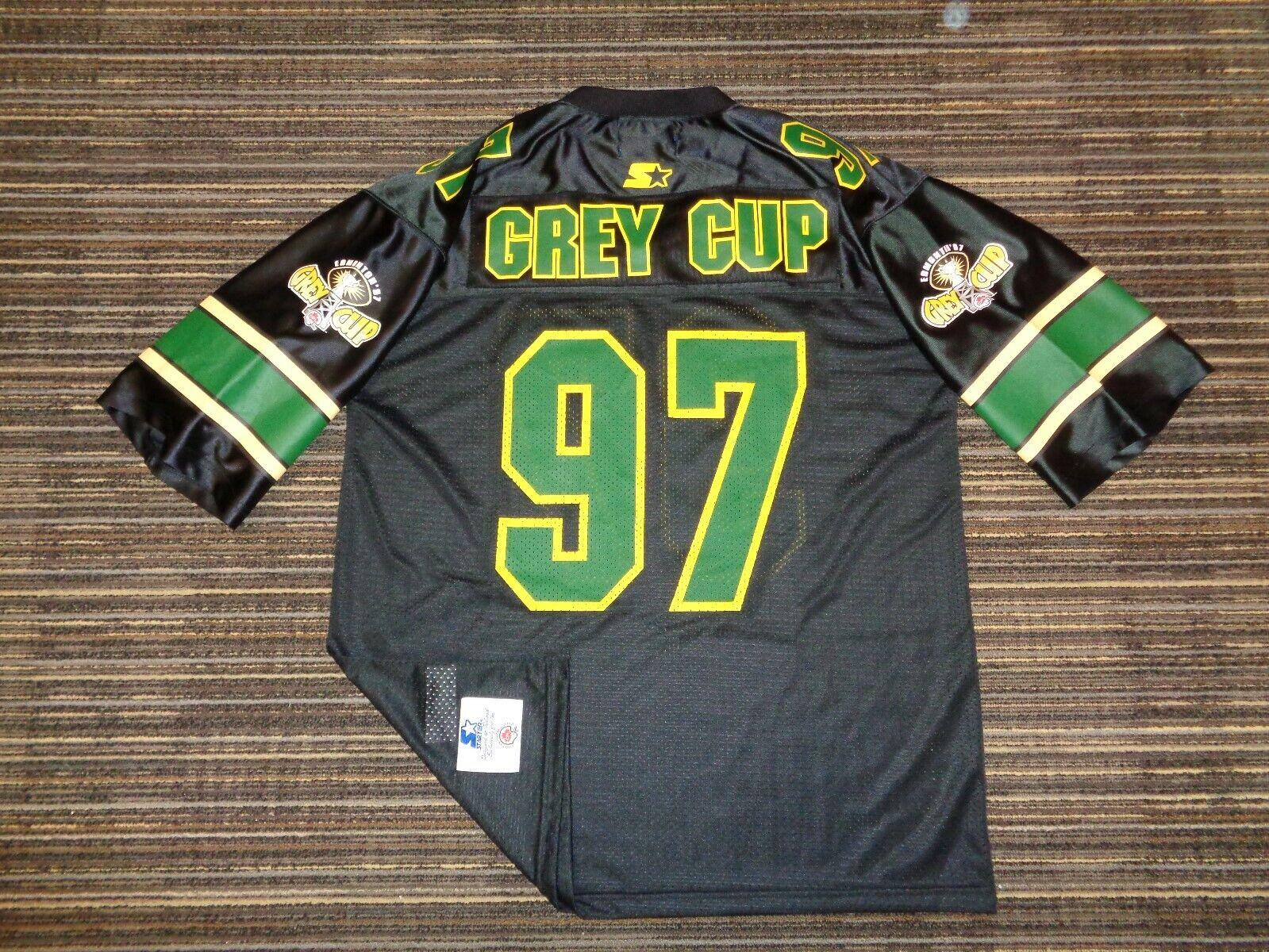 1997 EDMONTON ESKIMOS STARTER MENS CFL CANADIAN GREY CUP GAME FOOTBALL JERSEY LG - $44.99