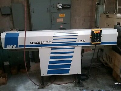 Space Saver Smw 2000 Magazine Bar Feeder With Push Rods Used One Time