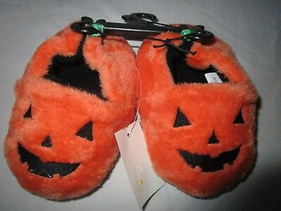 Baby boy & girl Halloween Pumpkin Slippers.  Size 4, infant.   New with tags