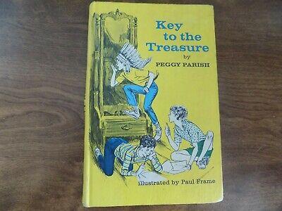 VINTAGE CHILDREN'S HARDBACK BOOK - KEY TO THE TREASURE BY PEGGY PARISH (Key To The Treasure By Peggy Parish)