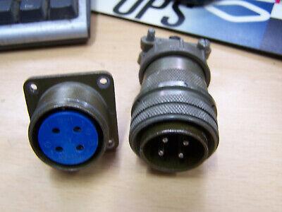 Amphenol Ms Connector Set Ms3106a20-4p Ms3106a20-4s 4 Pole Plug Jack 20-4p 4s