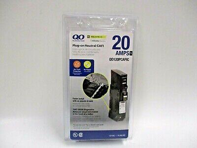 SQUARE D QO120PCAFIC 20 AMP 1 POLE PLUG-ON COMBINATION ARC FAULT Breaker 20A