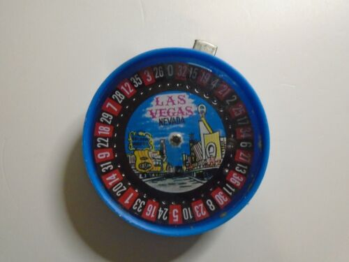 VINTAGE Las Vegas Roulette Wheel Souvenir - Golden Nugget Casino & Vegas Strip