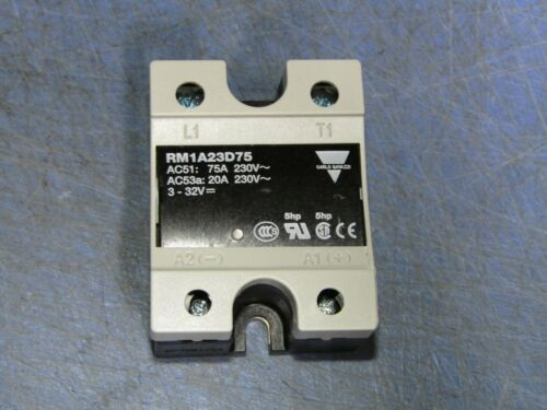 1 - Carlo Gavazzi RM1A23D75 Solid State Relay Contactor NEW Cracked cover