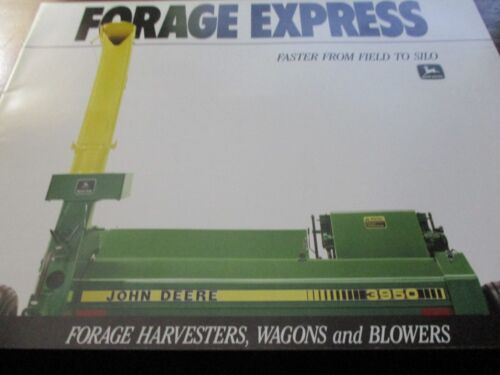 "John Deere ""Forage Express"" Sales Brochure 1989"