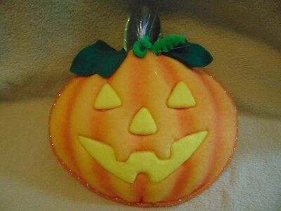 Halloween Avon Fiber Optic Pumpkin with suction cup for hanging works