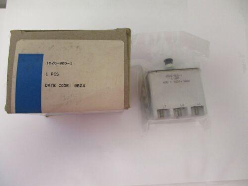 EATON AEROSPACE CONTROLS CIRCUIT BREAKER 1526-005-1, 1 AMP, MOD C 76374