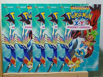 Pokemon XY Pocket Comics x5 Halloween Comicfest Comics CB8047 (Halloween Comicfest Comics)