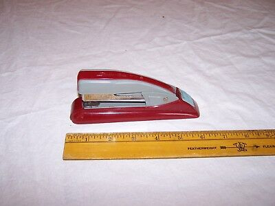 Vintage Swingline 77s Stapler Burgundy Red Gray - Estate Find - Usa Made
