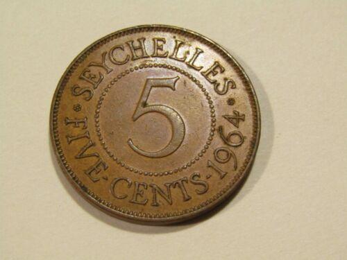 Seychelles 1964 5 Cents Coin
