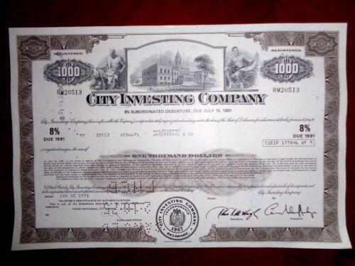 City Investing Company 1975  bond