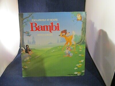 Exclusively at Sears Disney's Bambi Merchandise Promo Display Sign Thumper Flowr