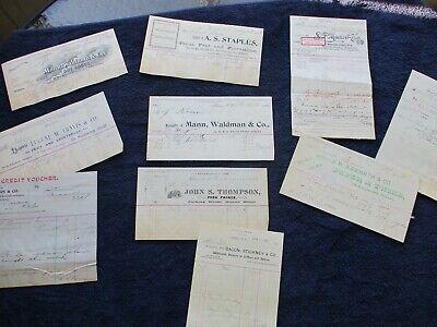 1895-96 (10) Rondout & Arkville, New York Samuel Korn (more names) letterhead lot