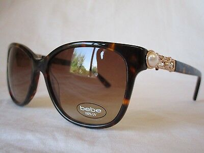BEBE SUN SUNGLASSES SHOOT FOR THE STARS BB7180 215 TORTOISE 56 MM NEW AUTHENTIC