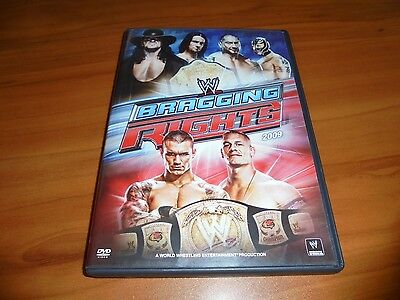 WWE: Bragging Rights 2009 (DVD, 2009) Used Randy orton Vs John