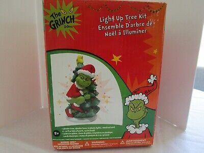 THE GRINCH LIGHT UP CHRISTMAS TREE KIT, PLASTER CERAMIC New In Box