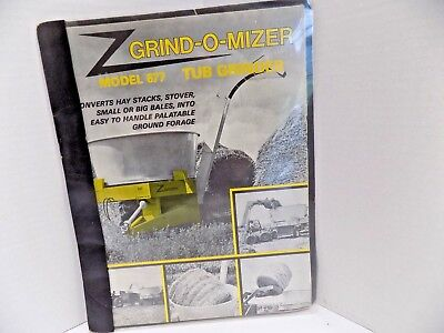 Tub Grinder Owners Manual Grind-o-mizer Model 677 Convert Hay To Ground Forage