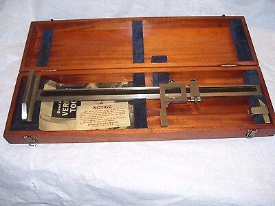 Height Gauge Brown Sharpe 18 No. 585 Height Gage Wooden Storage Box Usa