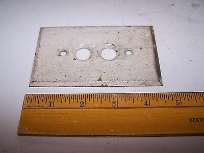 Vintage Brass Push Button SWITCH COVER - Painted - Chippy