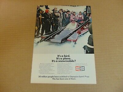 1971 BOSS CAT Bird Plane Snowmobile? by ARCTIC CAT art print ad