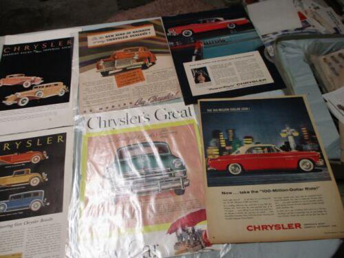1920s CHRYSLER & IMPERIAL ADS - SET OF 14