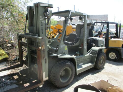 HYSTER H155XL PNEUMATIC FORKLIFT DIESEL LIFT TRUCK (MILITARY) (AS IS)