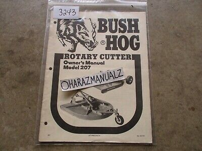 Bush Hog Model 207 Rotary Cutter Owners Manual