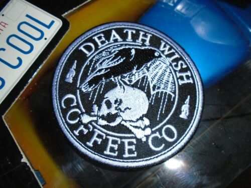 Death Wish Coffee Halloween The Nevermore PATCH rare