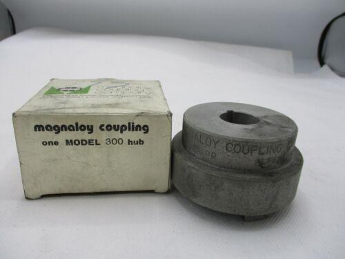 "NEW MAGNALOY 300 H300 COUPLING ALUMINNUM HUB 1"" BOX X 3/8""KW"