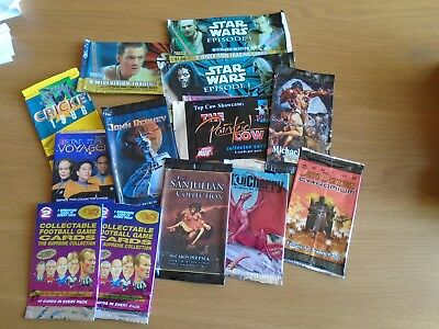13 EMPTY TRADING CARD PACKETS