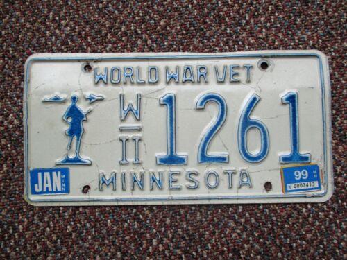 Minnesota 1999 WWII Veteran license plate # 1261