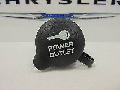98-16 Chrysler Dodge Jeep Ram New Power Outlet Cap Black Mopar Factory Oem
