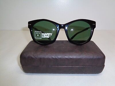Spy + Optic MULHOLLAND Black Happy Grey Green Sunglasses New Womens Eyewear