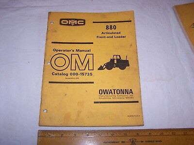 1978 Omc 880 Front End Articulated Loader Operators Manual 000-15735 Owatonna