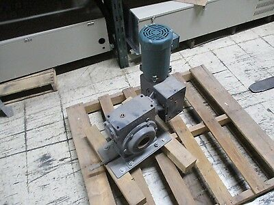 Hub City Worm Gear Reducer W Motor 0220-81874 Model 4505 Ratio 24001 Used