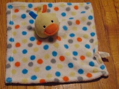 Swiggles Polka Dot Duck Plush Security Blanket/Lovey Polka Dot Duck