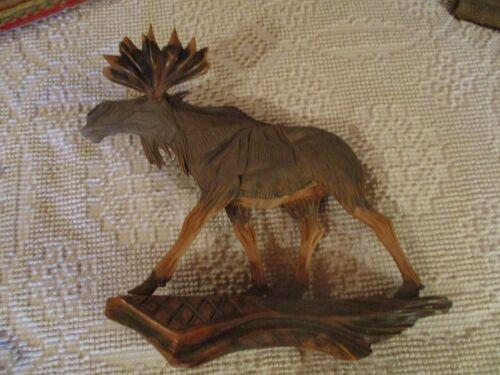 Vintage Swedish Erik Rundqvist Wooden Moose Carving  Signed
