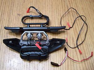 Traxxas 5607 1/10 Summit Front Rear Bumpers w/Mounts Lights & Wire Harness 5634