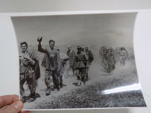 Original WWII British AFPU Photo: Italian POWs in North Africa