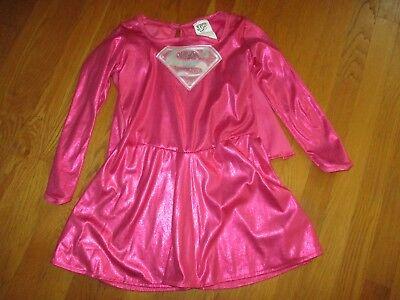 Girls Rubies Pink Super Girl Hero Costume with Cape Size Medium