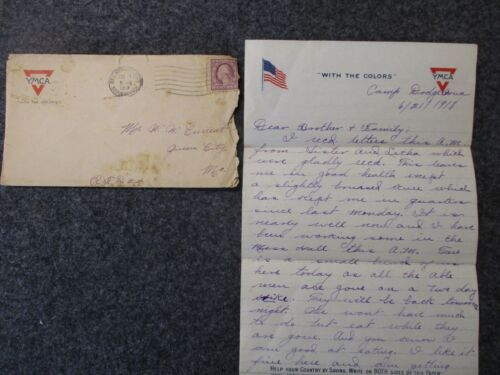WWI Letter Sent by SGT Oscar Current to his Family in Queen City, Missouri #6
